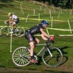 Cycling coach Aaron Oakes on cyclocross course - Get Faster Wenzel Coaching