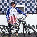 Cycling Coach Elaine Bothe with bike at Enduro National Championships 2015 - Wenzel Coaching - Get Faster