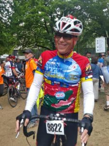 Wenzel Coaching client Christopher Man poses for a smile at the end of the Seattle to Portland Ride.
