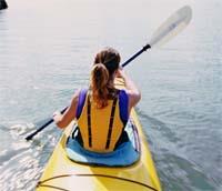 Pole Pedal Paddle kayaker