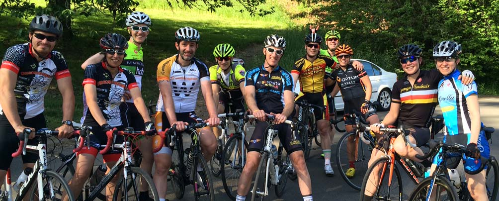 Cycling group photo