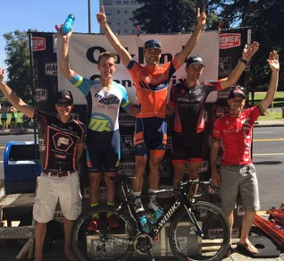 Mark Niiro on the podium at the Oakland Grand Prix - Get Faster Wenzel Coaching