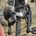 Typical double chainring cyclocross set-up