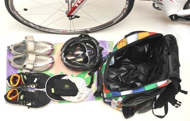 Triathlon transition set-up - Get Faster- Wenzel Coaching