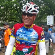 Christopher Chapman smiles with his finisher's medal at the Seattle to Portland 2016 ride