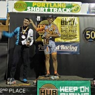 Wenzel Coaching Andrew Coe on the podium in first at the Portland Short Track overall series win
