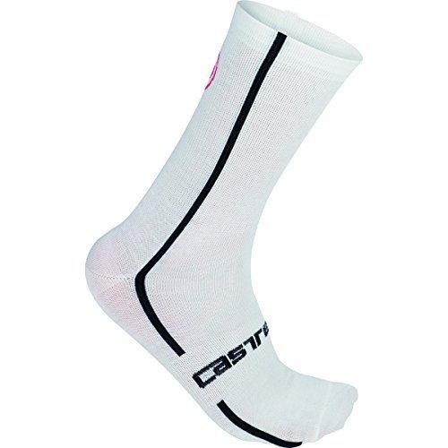 white Castelli merino wool sock