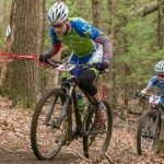Cycling coach Aaron Oakes climbs on the mountain bike. Get Faster Wenzel Coaching