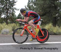 Pole Pedal Paddle cyclist - Photo by D Boswell Photography