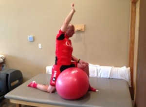 hip-flexor-lunge-with-therapy-ball