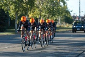 The Optum men's team keeps it together at the Tour of Alberta Team Time Trial.
