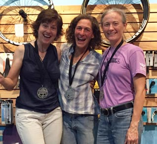 Coach Rhonda Morin at the GPRM podium - Get Faster - Wenzel Coaching