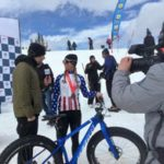 Coach Emma Maaranen gives an interview after her 2016 Fat Bike National Championship in the Elite Women