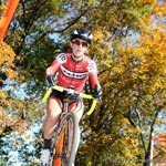 Wenzel Coach Jessica Cutler rides during a cyclocross race