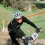 Adrian Bennett of Wenzel Coaching on a mountain bike