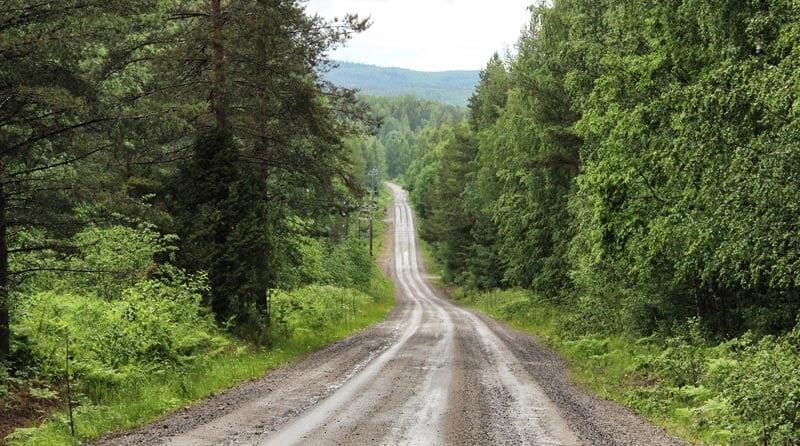 A typical gravel grinder road