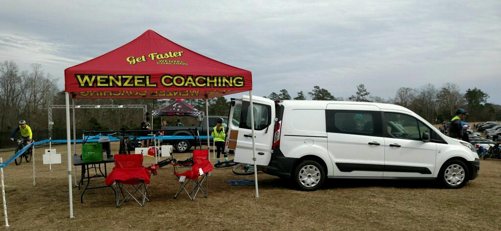 Wenzel Coaching canopy tent at race