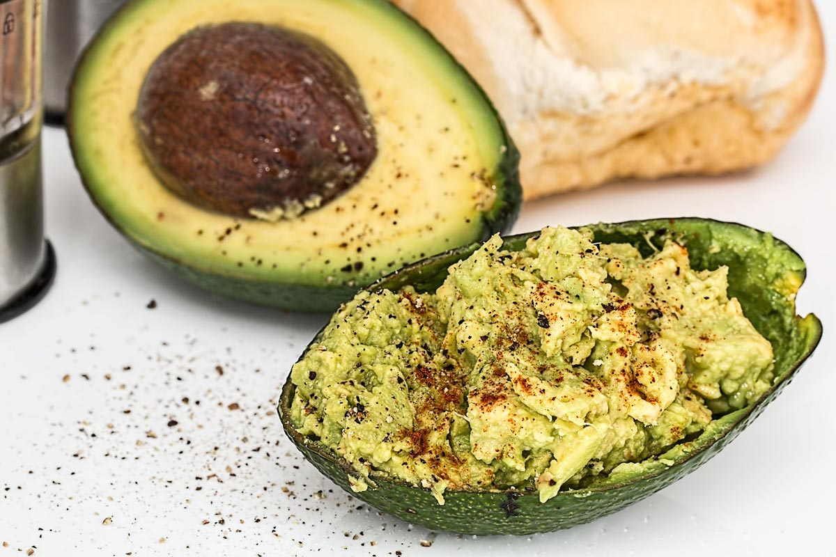 Avocado example as fat for athletes