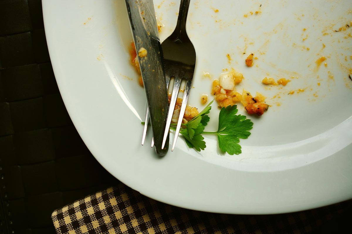 empty plate of eaten food